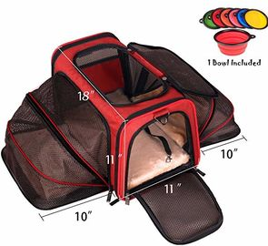 چین دو طرف Expandable Pet Carrier، Super Spacious Soft Air Travel Pet Carrier کارخانه