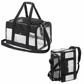 چین صندوق ایمنی Locked Zipper Airplane Dog Carrier Under Seat Pet Carrier Tote Black Color کارخانه