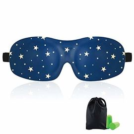 زن و مرد 3d Sleeping Eye Mask، Total Darkness Travel Eye Mask for Earplugs رایگان